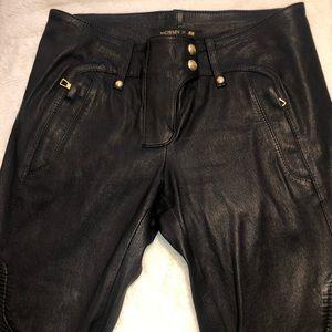 Balmain H&M biker Leather Pants size 6